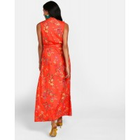 Floral Dobby Claudine Ruffle Detail Maxi Dress A-Line Floral Ruffle Maxi Dress IN1815MTODREFLR-167 KJBUOXZ