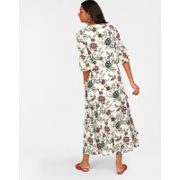 Floral Dory Frilled Maxi Dress Flare Floral Ruffle Maxi Dress IN1813MTODREFLR-147 DGLGZTC