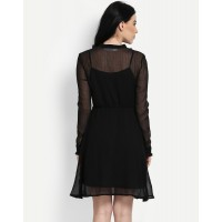 Mardy Dress Regular Black Mini Skater Dress IN1636MTODREBLA-553 FVEMGIG