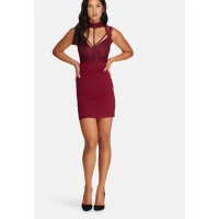 Missguided Women Lace cami choker bodycon dress Red RFUJBFJ