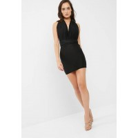 Missguided Women Multiway slinky dress Black TFVIJXS
