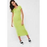 Missguided Women Short sleeve bodycon midi dress Green ILCJDGN