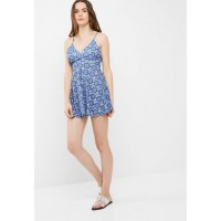 Missguided Women Strappy back skater dress Blue ROCOXQN
