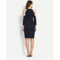 Navy Alyse Cold Shoulder Bodycon Dress Regular IN1702MTODREBLU-131 QQHJTYH