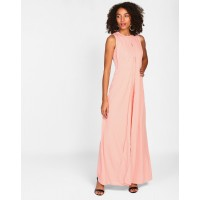 Pink Brenda Maxi Dress Regular Pink Maxi Dress IN1615MTODREPCH-165 KVGSHHK