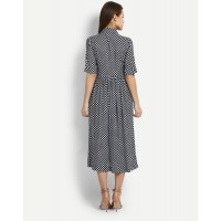 Polka Errand Shirt Dress Regular IN1704MTODREBLU-192 XWIVQTV