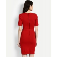 Red Gloriana Wrap Dress Skinny Red Cotton Mini Wrap Dress IN1715MTODRERED-329 ZJTWZKC