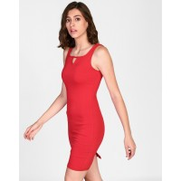Red Morena Cut Out Detail Bodycon Dress Skinny Red Cutout Mini Bodycon Dress IN1825MTODRERED-239 BUGXADO