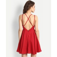 Red Nema Dress Regular Red Cutout Mini Skater Dress IN1649MTODRERED-174 USPRHJV
