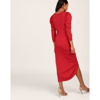 Red Rosemary Ruched Maxi Dress Skinny Red Maxi Dress IN1806MTODRERED-514 TTNKRXS