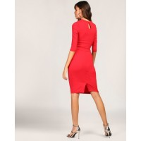 Red Wilford Cut Out Bodycon Dress Skinny Red Cutout Bodycon Dress IN1801MTODRERED-821 KXWSKXX