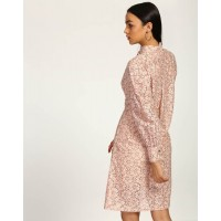Rose Stefa Lace Shirt Dress Regular Lace Mini Shirt Dress IN1743MTODREROS-212 TSZRYEV