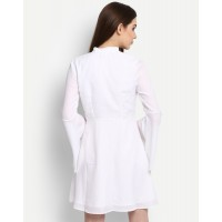 White Angela Bell Sleeves Embroidered Skater Dress IN1705MTODREWHT-134 NFADLLG