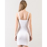 White Vendetta Dress Regular White Cotton Mini Bodycon Dress IN1605MTODREWHT-103 MDOULFF