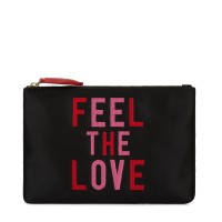 Lulu Guinness Women Feel The Love Top Zip Pouch Plain D847346 WWEPBYI