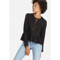 dailyfriday Women Peplum lace inset blouse Black SCEVBDF