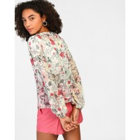 Floral Merida Blouse Regular Floral Georgette Blouse IN1811MTOTOPFLR-131 SNYXXTS