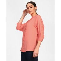 Peach Alina Blouse Relaxed Coral Blouse IN1517MTOTOPPEA-115 RGDPIQE
