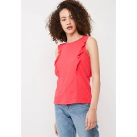 Vero Moda Women Laura frill top Red WFRDOYW