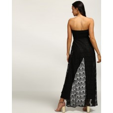 Black Caspian Lace Jumpsuit Regular Black Lace Jumpsuit IN1739MTOJUMBLA-366 TOCFYUE