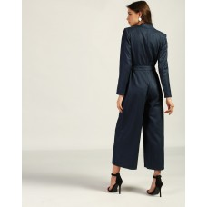 Blue Bradshaw Knotted Formal Jumpsuit Tailored Blue Knots Jumpsuit IN1752MTOJUMBLU-639 ZVFYLVY
