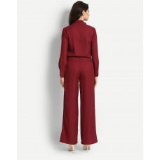 Burgundy Franklin Jumpsuit Relaxed IN1647MTOJUMMSL-159 HLXOXAQ