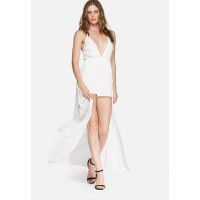 Missguided Women Cheesecloth overlay playsuit White GSZQTGN