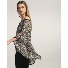 Animal Printed Gill Bell Sleeve Top Regular IN1749MTOTOPMLT-124 SSAGKRB