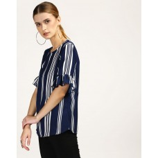 Berto Striped Top Regular Striped Ruffle Georgette Casual Top IN1748MTOTOPSTI-960 SPTMMLU
