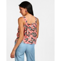 Floral Cara Ruffle Detail Top Regular Printed Ruffle Georgette Casual Top IN1814MTOTOPFLR-169 MYWCHRS