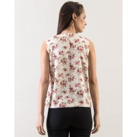 Floral Fiona Top Relaxed Floral Pleated Casual Top IN1604MTOTOPFLR-171 WCGLRXK