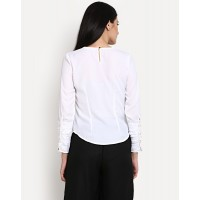 Golden Days White Top Relaxed White Casual Top IN1417MTOTOPWHT-103 MUJHOZU