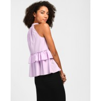 Lilac Olivia Ruffle Detail Top Regular IN1809MTOTOPPRL-155 NXZTQED