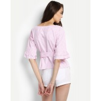 Pink Striped Renelle Top Regular IN1725MTOTOPPNK-924 JQGMYMH