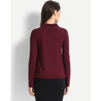 Wine Estellen Top Relaxed Maroon Casual Top IN1645MTOTOPMSL-583 FWSKQLN