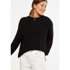 Cotton On Women Archy cropped pullover Black CDKVIFN