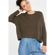 Cotton On Women Archy cropped pullover - khaki Khaki KQELLID