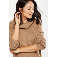 Cotton On Women Monty roll neck luxe pullover - brown Brown DAHAVDB