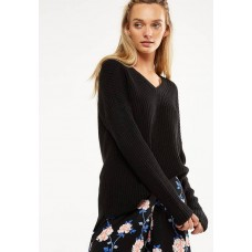 Cotton On Women Willa v-neck pullover - black Black TJOLMIT