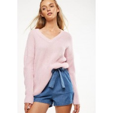 Cotton On Women Willa v-neck pullover - pink Pink VWKBZVL
