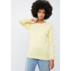 dailyfriday Women Crew neck slouchy knit Yellow IUBZQNE