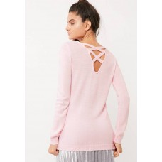 dailyfriday Women Cross back slouchy knit Pale Pink ZDTLEYI