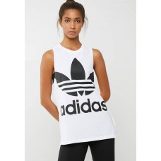 adidas Originals Women Trefoil tank White & Black CAYWMNA