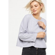 Cotton On Women Joanie chop boxy long sleeve Grey OISSPET
