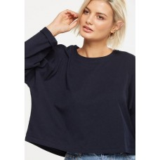 Cotton On Women Joanie chop boxy long sleeve - navy Navy XYIADRA