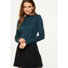 Cotton On Women Kylah mock neck long sleeve Green KZZPZGB