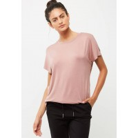 dailyfriday Women Cap sleeve butterfly tee Dusty Pink GFOUSHQ