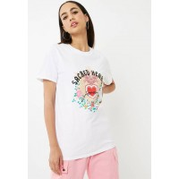 Missguided Women Sacred hearts slogan t-shirt White Mustard Green Pink Red & Black ZQETIWI