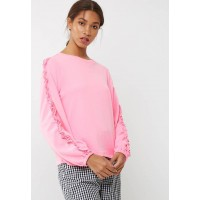 ONLY Women Misty ruffle sweat Pink UDPTMYI