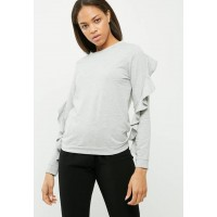Vero Moda Women Frilly frill sweat Grey Melange BUSTXFU
